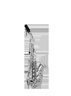 Gebogenes Sopransaxophon